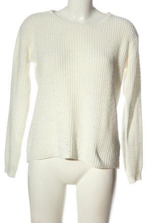Colours of the World Sweter z okrągłym dekoltem biały W stylu casual