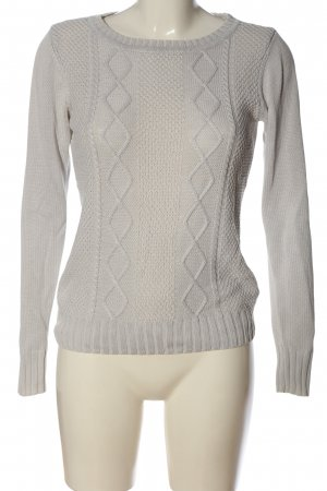 Colours of the World Crewneck Sweater light grey striped pattern casual look