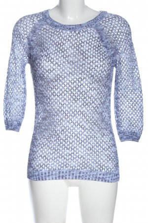 Colours of the World Rundhalspullover blau meliert Casual-Look