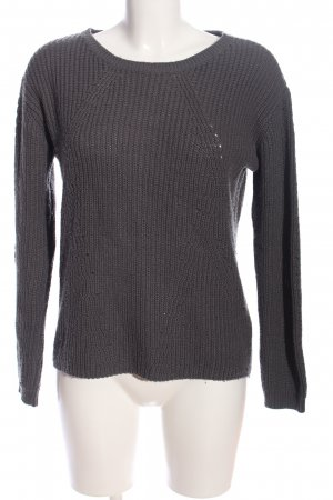 Colours of the World Rundhalspullover schwarz Zopfmuster Casual-Look