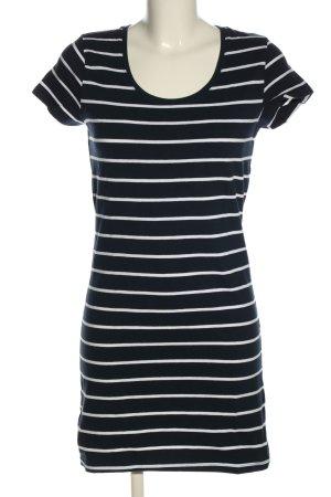 Colours of the World T-shirt jurk zwart-wit gestreept patroon casual uitstraling