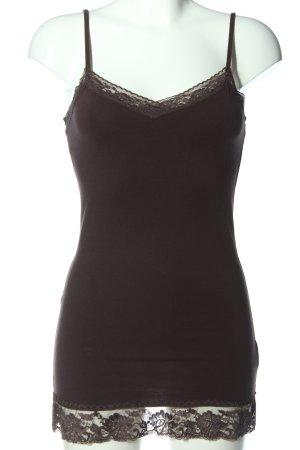 Colours of the World Top z cienkimi ramiączkami czarny W stylu casual