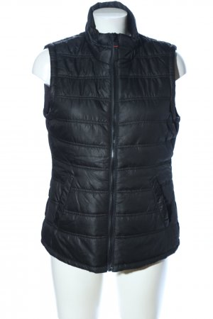 Colours of the World Quilted Gilet black quilting pattern casual look
