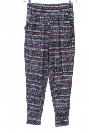 Colours of the World Jersey Pants allover print casual look