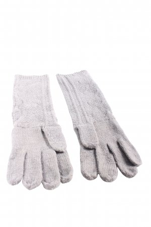 Colours of the World Knitted Gloves light grey cable stitch casual look