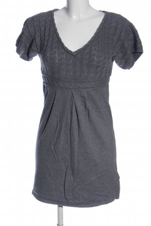 Colours of the World Strickkleid blau Zopfmuster Casual-Look