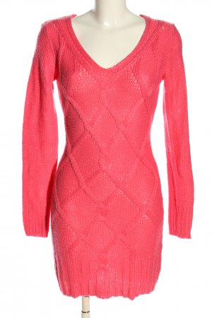 Colours of the World Strickkleid pink Zopfmuster Casual-Look