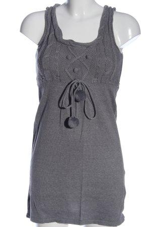 Colours of the World Robe en maille tricotées gris clair torsades