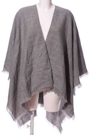 Colours of the World Knitted Poncho light grey flecked casual look