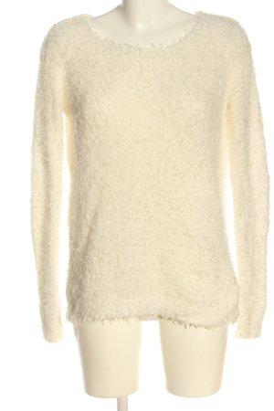 Colours of the World Sweter z dzianiny kremowy W stylu casual