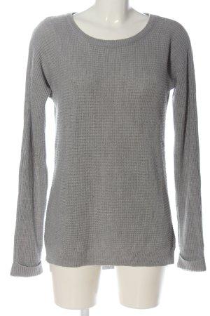 Colours of the World Pull tricoté gris clair torsades style décontracté