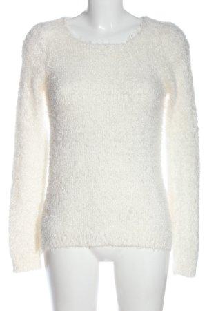 Colours of the World Pull tricoté blanc style décontracté