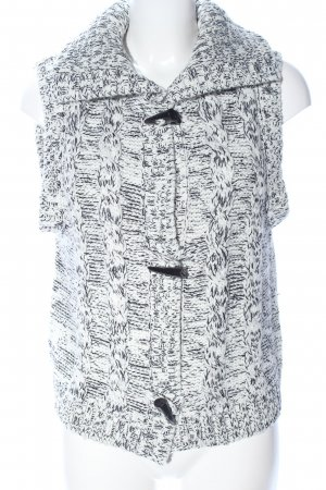 Colours of the World Knitted Vest white-black flecked casual look