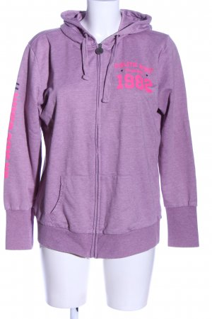 Colours of the World Sweatjacke lila meliert Casual-Look