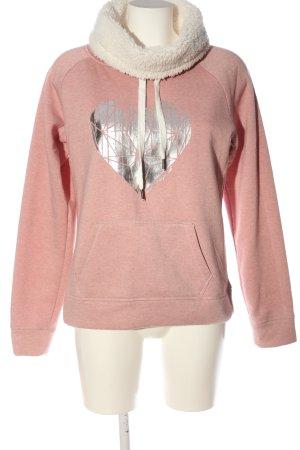 Colours of the World Sweatshirt pink-silberfarben Motivdruck Casual-Look