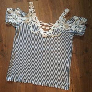 ❤️Colours of the World / Takko❤️ Bluse Shirt Spitze Streifen Gr. 34
