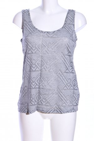 Colours of the World Tanktop hellgrau grafisches Muster Casual-Look