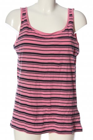 Colours of the World Tanktop pink-schwarz Streifenmuster Casual-Look