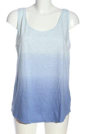 Colours of the World Trägertop blau-weiß Farbverlauf Casual-Look