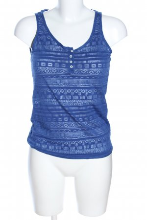 Colours of the World Trägertop weiß-blau grafisches Muster Casual-Look