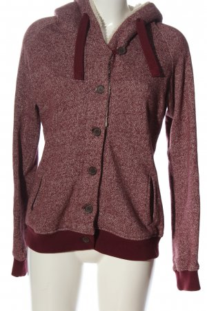 Colours of the World Sweatjacke rot meliert Casual-Look