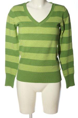 Colours of the World Sweter z dekoltem w kształcie litery V zielony