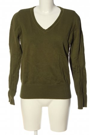 Colours of the World V-Ausschnitt-Pullover khaki Casual-Look