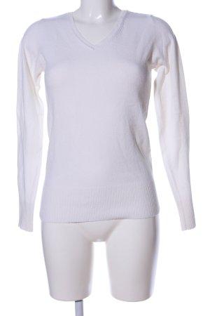 Colours of the World V-Ausschnitt-Pullover weiß Business-Look