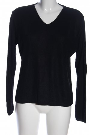 Colours of the World V-Ausschnitt-Pullover schwarz Casual-Look