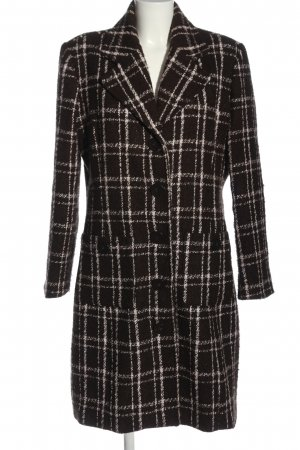 Colours of the World Winter Coat brown-white allover print business style