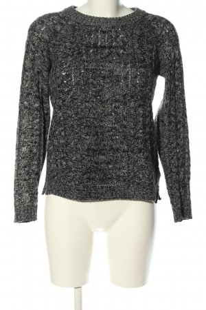 Colours of the World Zopfpullover schwarz-silberfarben Zopfmuster Casual-Look