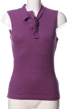 ColourVille ärmellose Bluse lila Casual-Look