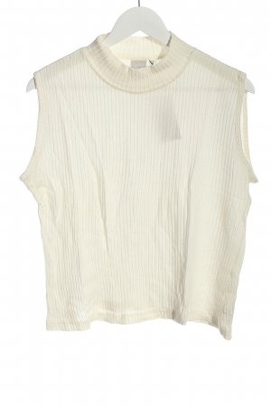 ColourVille Sweter bez rękawów z cienkiej dzianiny w kolorze białej wełny