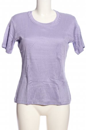 ColourVille T-Shirt lila Streifenmuster Casual-Look