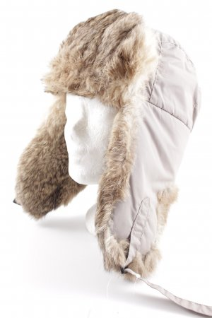 Columbia Fur Hat light brown-green grey fluffy