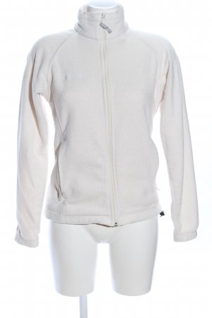 Columbia Fleece Jackets natural white embroidered lettering casual look