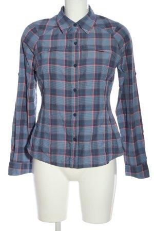 Columbia Camicia da boscaiolo blu-rosa motivo a quadri stile professionale