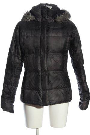 Columbia Giacca con cappuccio nero-grigio chiaro motivo a quadri stile casual