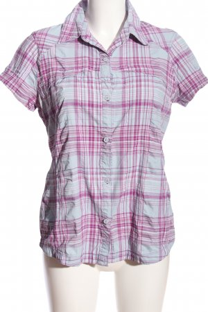 Columbia Camicia a maniche corte rosa-grigio chiaro motivo a quadri stile casual