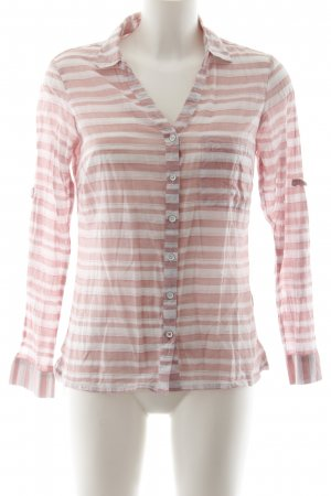 Columbia Langarm-Bluse rosa-weiß Casual-Look