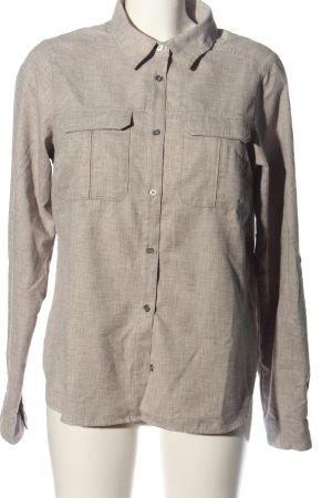 Columbia Camicia a maniche lunghe grigio chiaro-bianco sporco puntinato