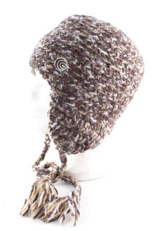 Columbia Bonnet cache-oreilles brun-blanc moucheté style décontracté