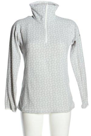 Columbia Maglia a collo alto grigio chiaro-bianco motivo astratto stile casual