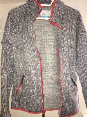 Columbia Giacca in pile grigio scuro-rosso mattone