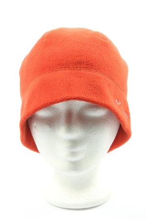 Columbia Chapeau en tricot orange clair style décontracté
