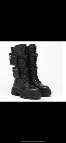 Ovyé Combat Boots black leather