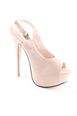 Comer Collection Riemchen-Sandaletten wollweiß extravaganter Stil
