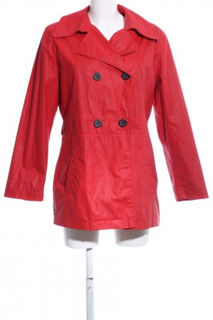 Heavy Raincoat red casual look