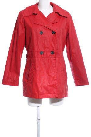 Zware regenjas rood casual uitstraling