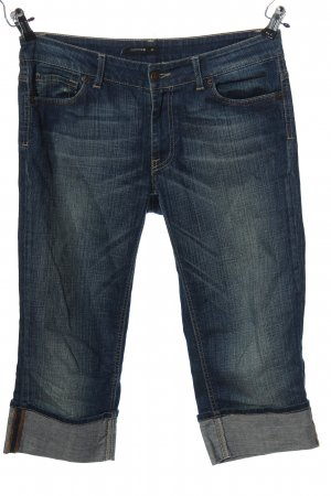 Comma 3/4-jeans blauw casual uitstraling